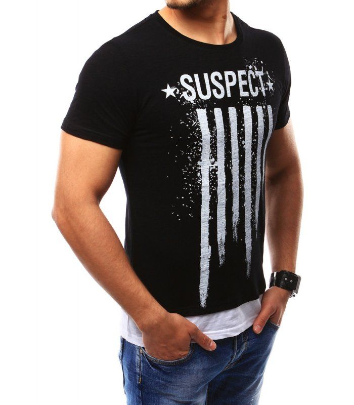 Pánske tričko s potlačou čierne