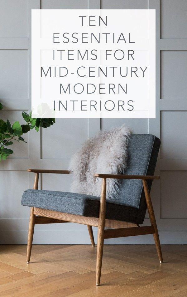 Zehn wesentliche Elemente für Mitte Jahrhundert Modern Interiors