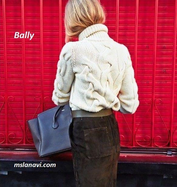 Вязаный свитер с косами от Bally http://mslanavi.com/2016/02/vyazanyj-sviter-spicami-s-kosami/
