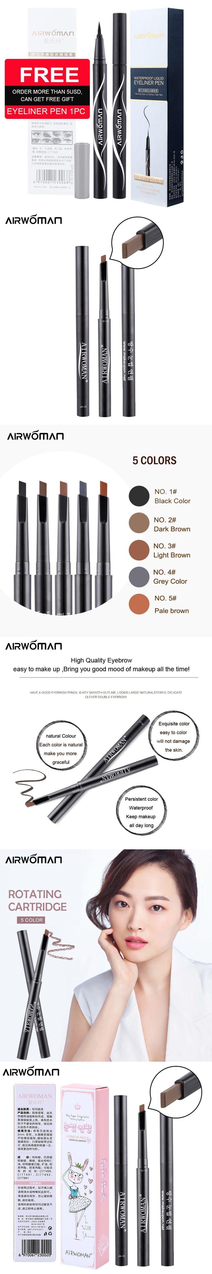 Brand 1 PC 5 Color Women Lady Triangle Waterproof Eyebrow Pencil New automatic Eye Brow Pen cosmetic makeup maquiagem eyebrow