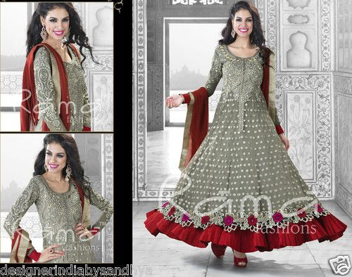 PAKISTANI DESIGNER ETHNIC INDIAN SALWAR KAMEEZ SUIT ANARKALI BOLLYWOOD LEHENGA