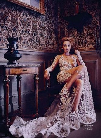 model: Kylie Minogue Vogue Australia 2014 photo by: Will Davidson