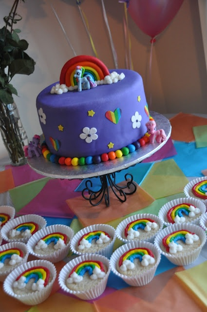 My little pony cake. So pretty! Great instructions, but doesn't sound easy for a novice.