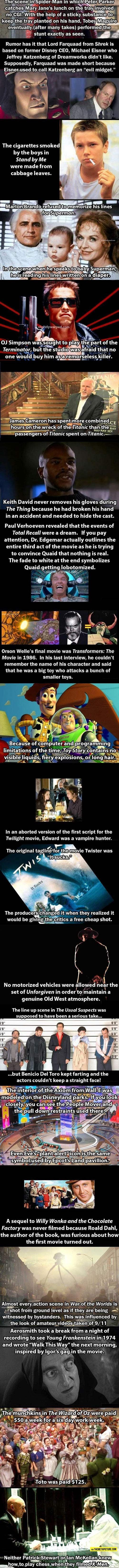Movie facts you probably didn't know.
