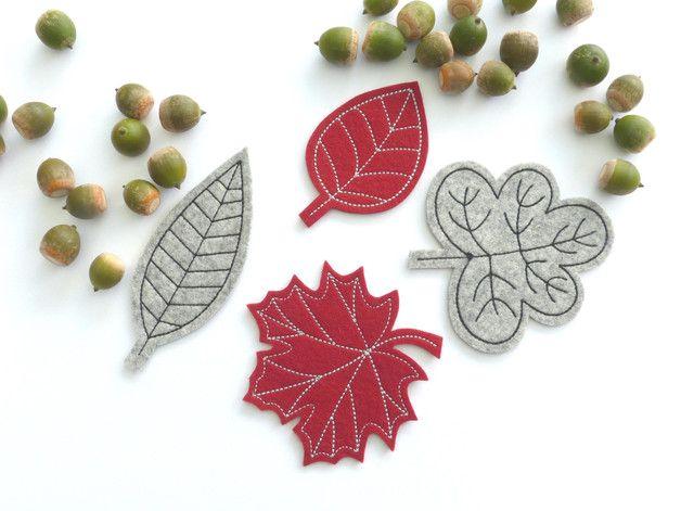 Herbstdeko, Blätter aus Wollfilz, Wohndeko / autum decoration for the home: leaves made of felt by susannes-kreative-seite via DaWanda.com