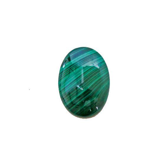 Malachite oval cabochon 26.70 carat by SARAHHUGHESfinegems on Etsy