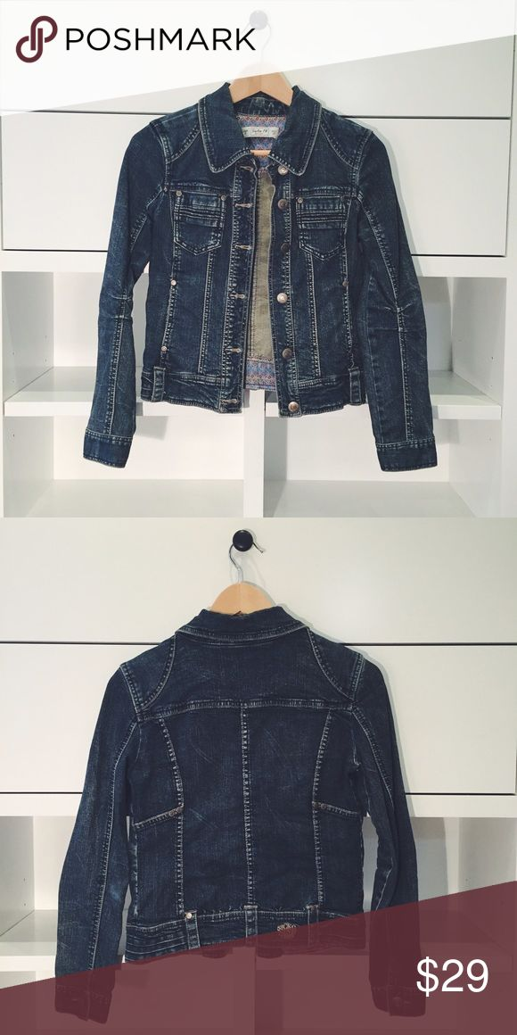 Pull & Bear Denim Jacket Super comfy cotton denim jacket with stretch from Pull & Bear (a Zara company). Size 26, which fits like a XS or S.  Purchased in Spain.  High armholes for a perfect fit. Pull and Bear Jackets & Coats Jean Jackets