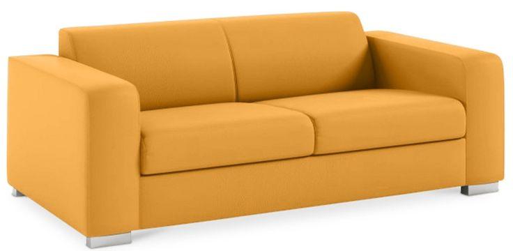 Ce canapé 3 places jaune appartenant à la collection Millenium vous permettra de le placer dans de petits espaces. Il est recouvert de lin doux, il invite à la détente grâce à ses coussins en mousse souple. Grâce à sa structure de lignes droites, ce canapé 3 places se combinera parfaitement avec d'autres styles de décoration.  Revêtement : Tissu lin Structure : Bois Pieds : acier inoxydable Remplissage : Mousse Densité : 30kg/cbm L 177 x H 70 x P 98 cm