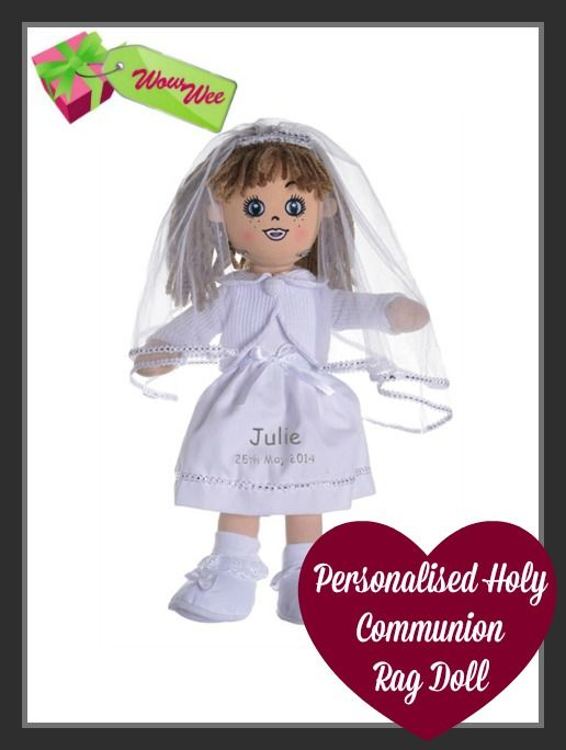 Personalised Communion Rag Doll the Perfect Communion Gift for Girls at just €28 https://www.wowwee.ie/Limited-Edition-First-Holy-Communion-Rag-Doll-p/communion%20doll.htm