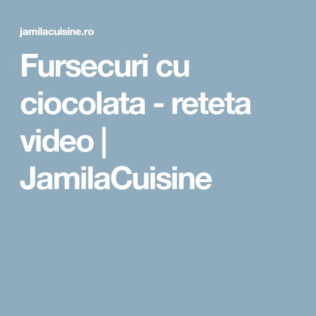 Fursecuri cu ciocolata - reteta video | JamilaCuisine