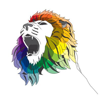 Lion Color Wheel By Foxydesignsforyou