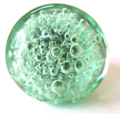 very beautifully handcrafted Mint Green Bubble glass Door knob