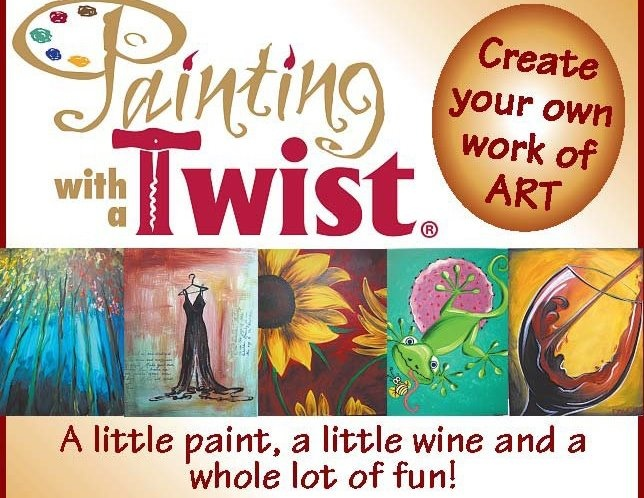17 best images about painting with a twist party ideas on for Wine and paint orlando