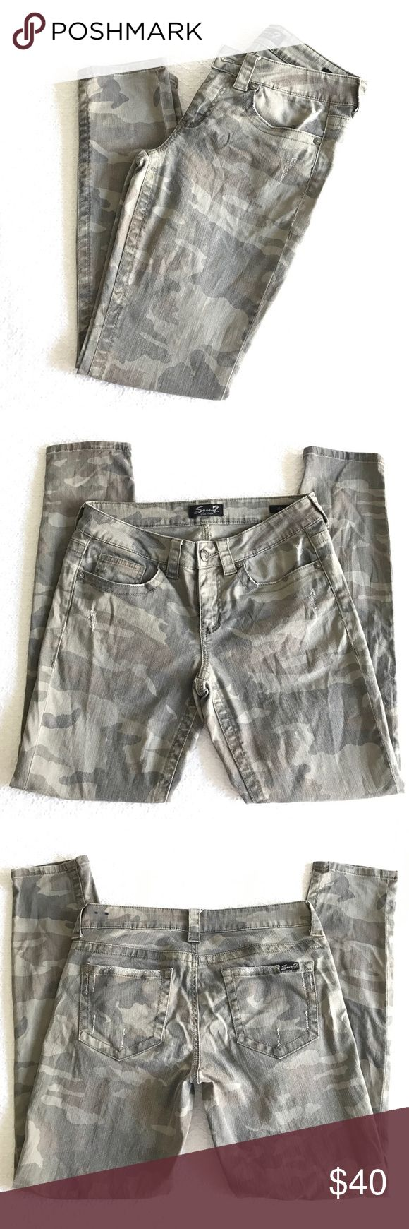 Seven7 camouflage skinny jeans size 6 Seven7 camouflage skinny jeans size 6 Seven7 Jeans Skinny