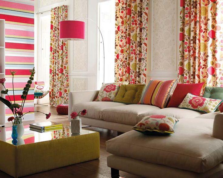 Las 25 mejores ideas sobre cortinas coloridas en pinterest for Cortinas de living
