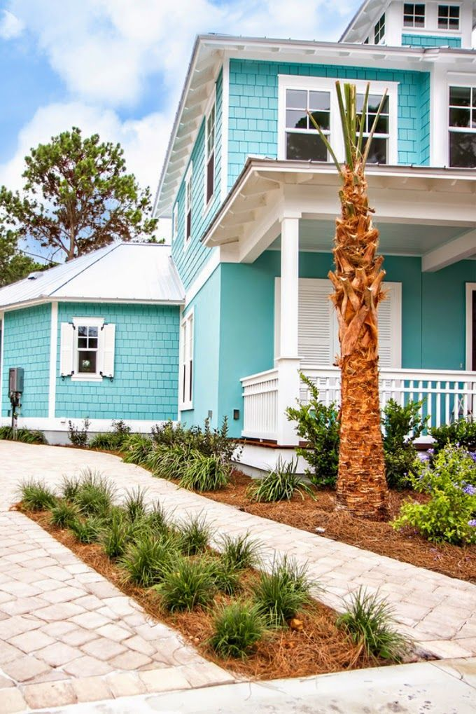 43 best tropical exterior colors images on pinterest - Coastal home exterior color schemes ...