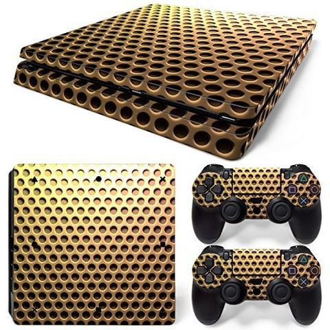 ModFreakz® Console/Controller Vinyl Skin Set – Gold Screen for PS4 Slim #console #controller #ModFreakz #vinyl #diy #accessories #decals #gaming
