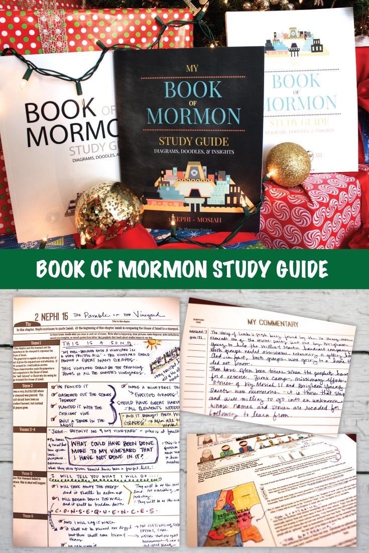 Book of Mormon Study Guide: Diagrams, Doodles, and Insights! Scripture journal filled with study pages that are great for every age! Youth and adults will love this! This has story maps to help you follow the amazing stories, helps for understanding doctrine, etc.