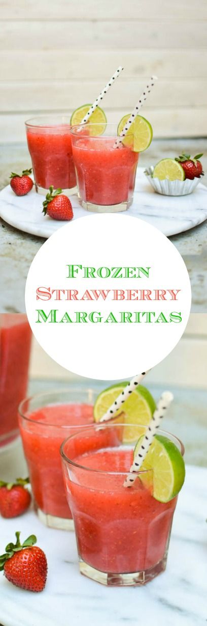 YES PLEASE!! Easy frozen strawberry margaritas