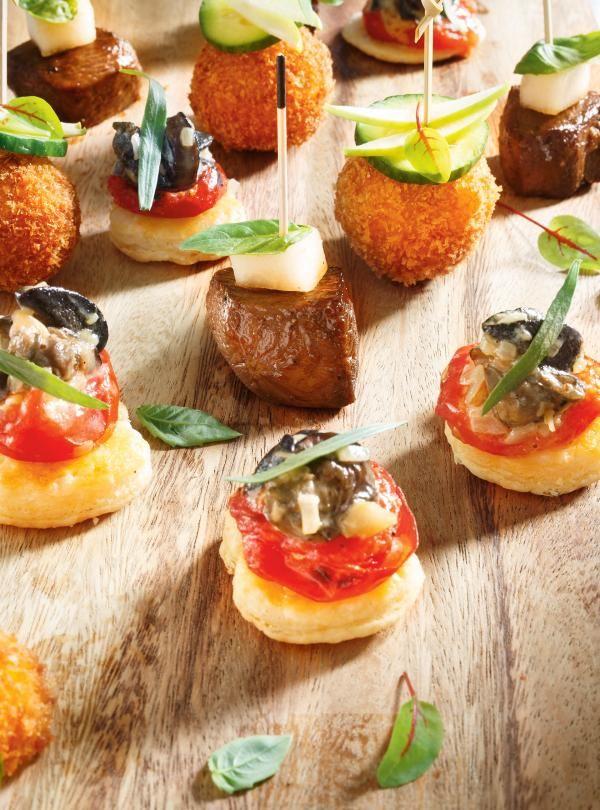 Recette de mini-feuilletés aux escargots, au pastis et aux tomates cerises confites de Ricardo