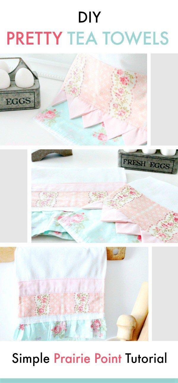 Pretty Tea Towel Tutorial | DIY | Pinterest | Costura, Paño de ...