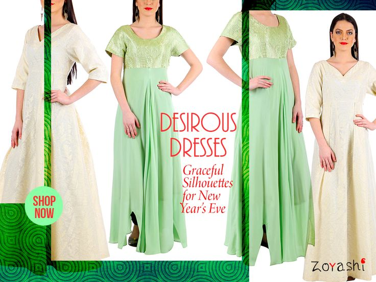 #RockThisLookWithZoyashi this New Year's Eve! What better way to end a fantastic year with Zoyashi's range ofEvening Dresses! For more, log onto: http://zoyashi.com/collections/dresses or visit us at C-14 Sushant Lok, Phase-I, Gurgaon! #Green #EveningGowns #RockThisLookWithZoyashi #NewYearsEve #LookOfTheDay #OOTD #Gowns #dress #Loveforgowns #evening