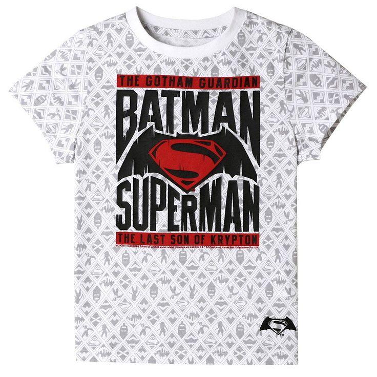 MIRINE KIDS Unisex Batman vs. Superman Marvel Hero Print Graphic Cotton T-shirt #TopTen10 #Everyday