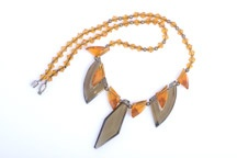 Art Deco Necklace With Crystal Beads