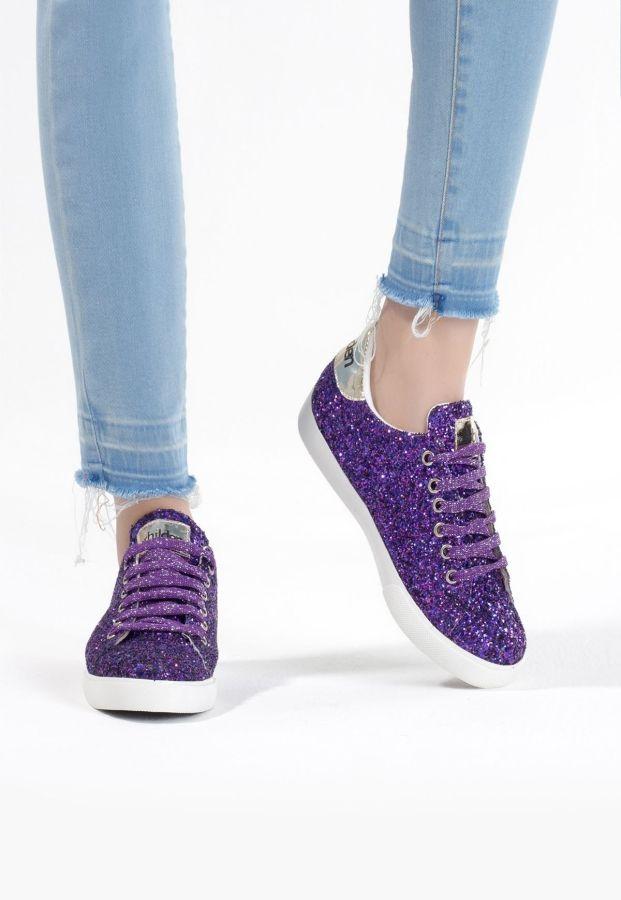 Mor Simli Bağcıklı Bayan Spor Ayakkabı ÜRÜN KODU : EB-ERB4638621 FİYAT:65,88 TL