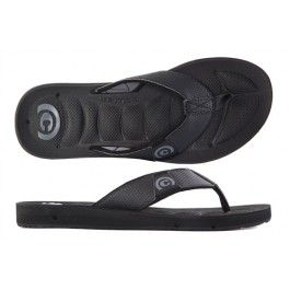 Cobian Black Draino Sandals for Men: Cushioned Sandals that are Water Friendly for Surf, Beach, & Everyday Life
