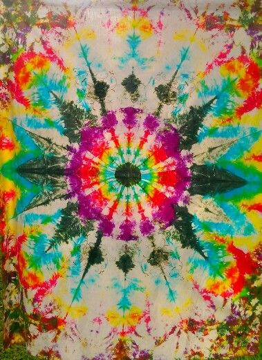 Tie dyed tablecloth - abstract