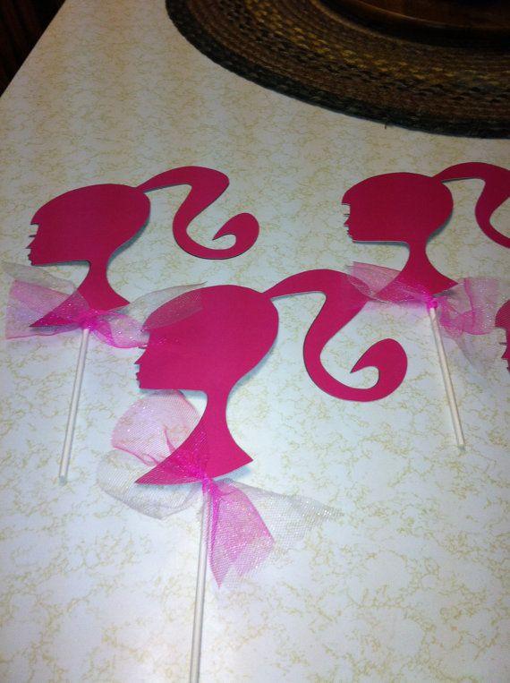Barbie centerpiece sticks di MindysPaperPiecing su Etsy