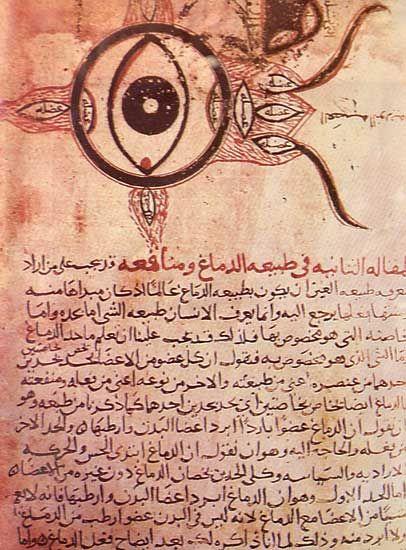 earliest known medical description of the eye, ninth-century Hunayn ibn Ishaq