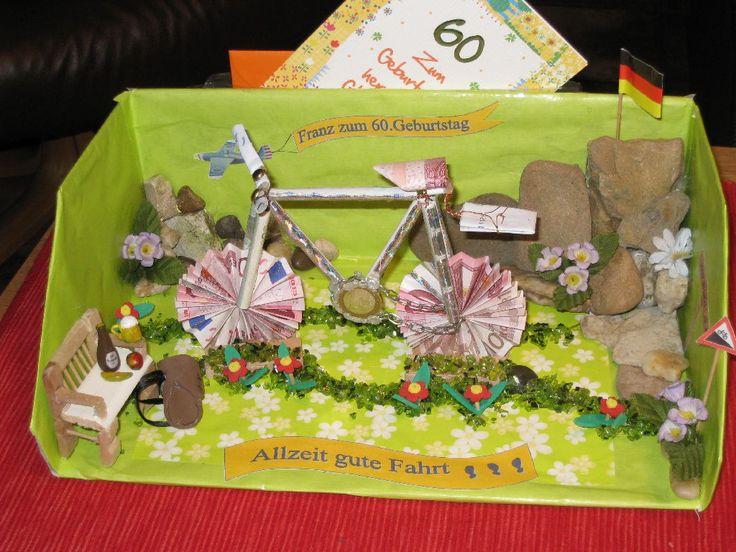 Geldgeschenk Fahrrad  Geschenke uvm DIY  Pinterest