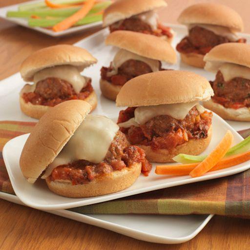 Baked Parmesan Meatball Sliders - Smackchow.com