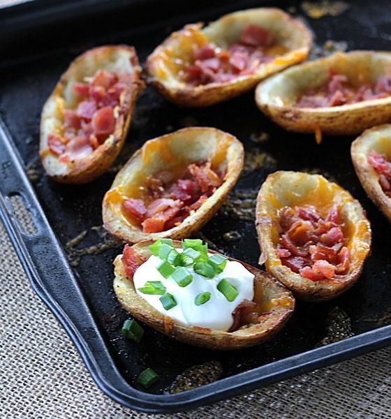Bacon and Cheesy Potato Skins