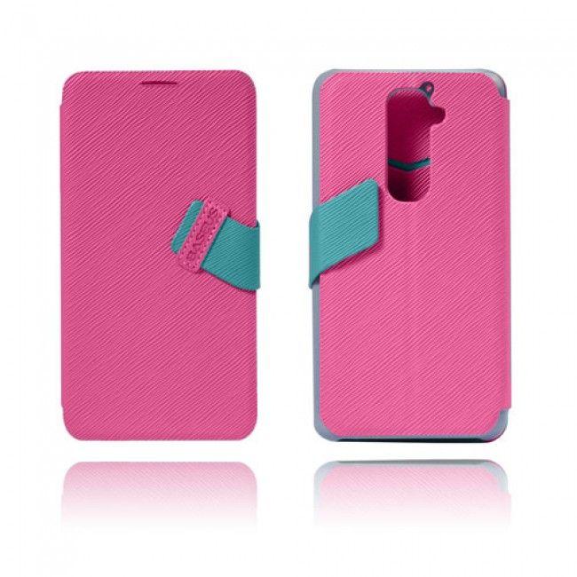 Freestyle (Pinkki) LG G2 Flip Case Nahkakotelo - http://lux-case.fi/freestyle-pinkki-lg-optimus-g2-nahkakotelo.html