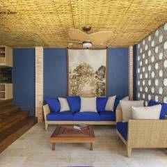 Forro com esteira trançada de Bambu: Salas de estar translation missing: br.style.salas-de-estar.rústico por BAMBU CARBONO ZERO