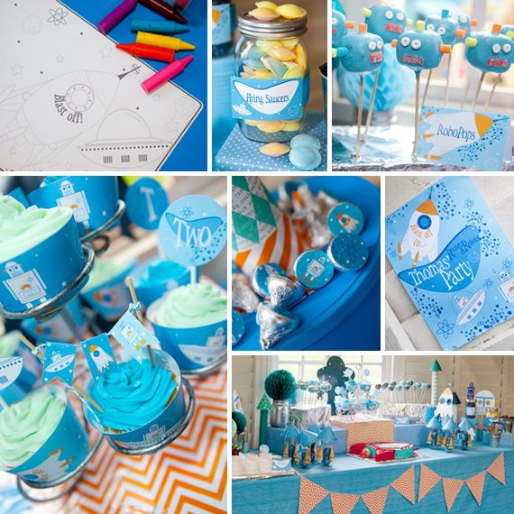 """Photo 15 of 16: Birthday """"Rockets & Robots Space Party"""" 