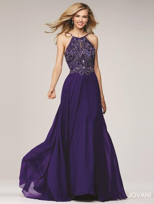 || Pure Couture Prom || Dress / Gown. Jovani Prom. Dark, black, purple, violet