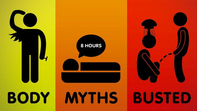 10 Stubborn Body Myths That Just Won't Die, Debunked by Science: http://lifehacker.com/5873922/