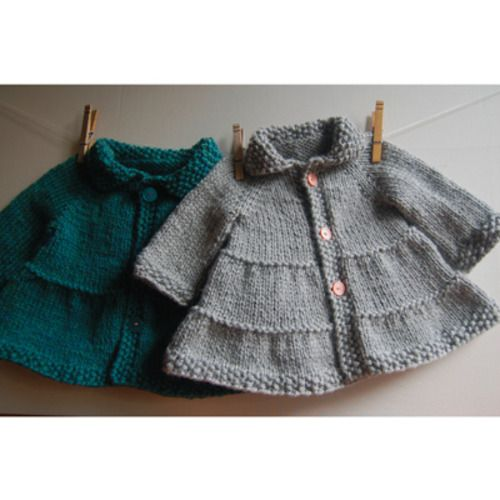 Knitting Patterns for Baby knit an Adorable little swing coat for a baby girl using a bulky yarn http://www.bookdrawer.com/go/knit-baby-coat-pattern/