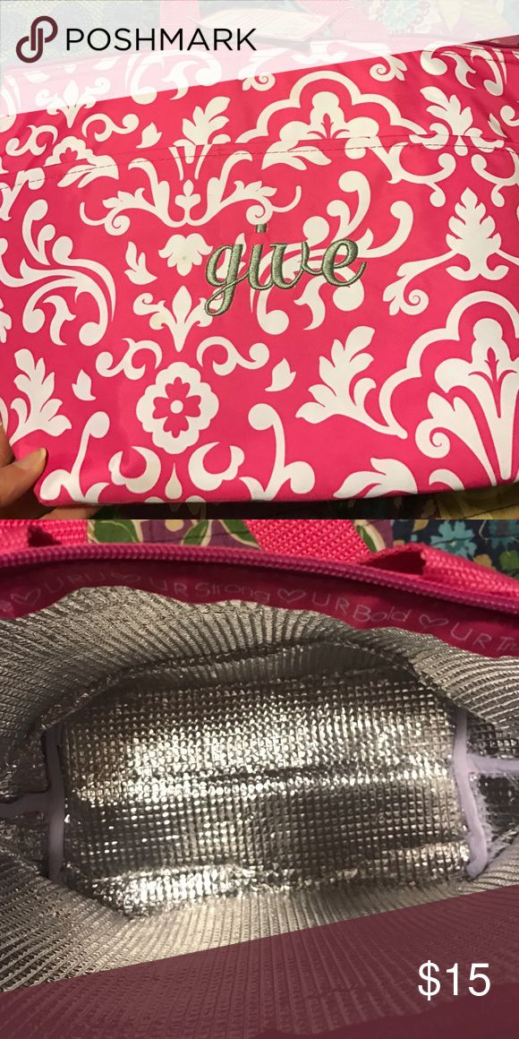 Thirty one lunch bag Pink damask Bags