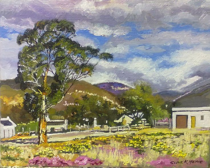 Landscape in Prince Albert  300 x 400 mm (12 x 16 inches) oils and brush on block mounted board-