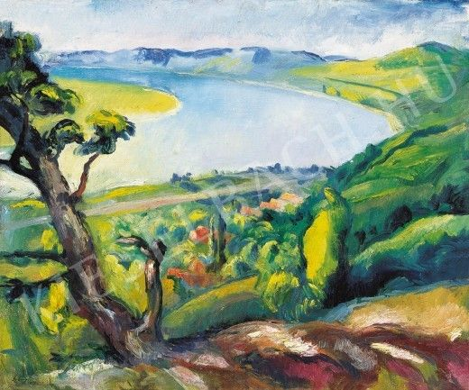 Zebegényi Dunakanyar, 1927, huile sur toile, 60 x 72 cm