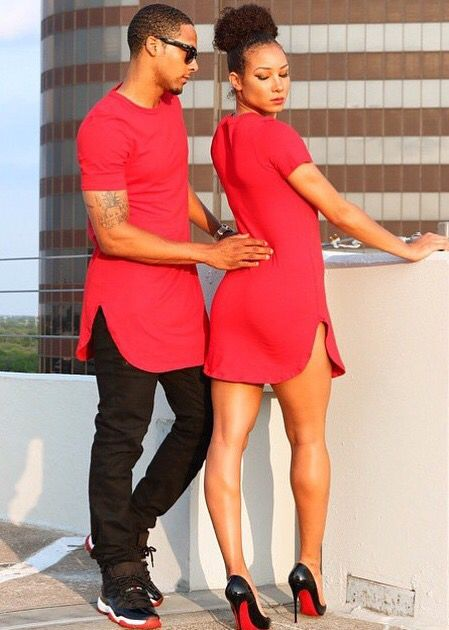 Black Love His Her Couple Relationship Matching Swag Jordan's Louboutin High Heels