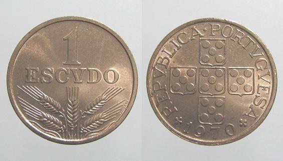 Um Escudo - 1$00 na Moeda Portuguesa - Escudos #moedas #coin #Portugal