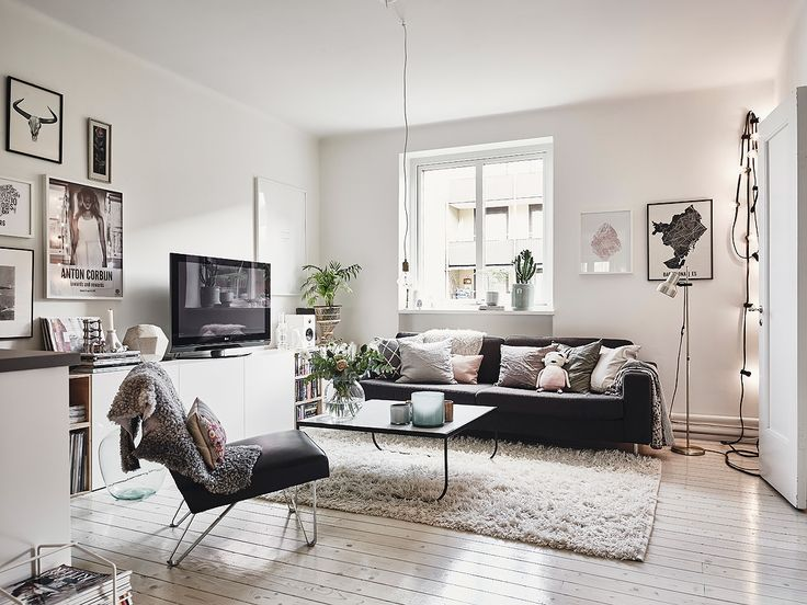 small living room in Scandinavian style