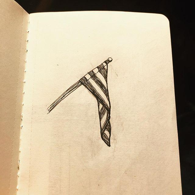A Hanging Flag Flag Myart Dailyart Art Doodle Drawing Sketch Sketchbook Linerpen Micron Pigmamicron Pensketc Hanging Flags Pen Sketch Sketch Book