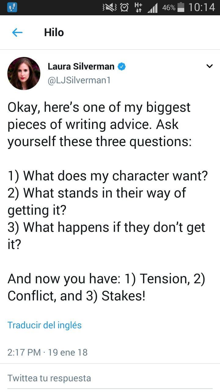 Preguntas interesantes para obtener tensión / conflicto / interés en nuestros relatos